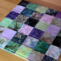 Purple Batik Table Runner